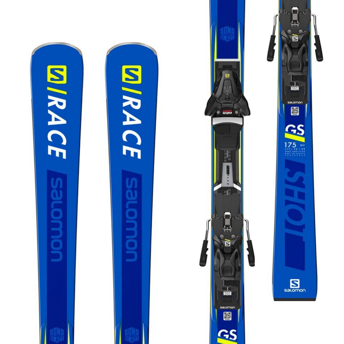 Salomon S/Race Shot Gs Skis + Z12 Walk Bindings 2019
